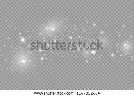Glow light effect. Vector illustration. Christmas flash. dust