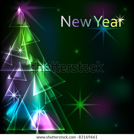 Glow new year abstract background vector illustration