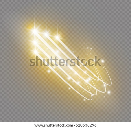 glow star light effect with