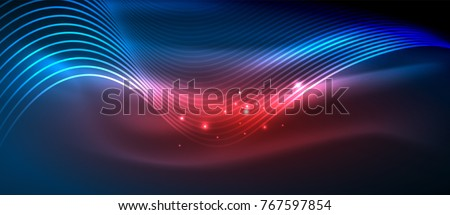 glowing abstract wave on dark