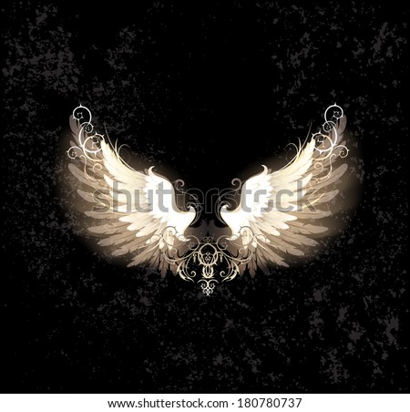 glowing angel wings   decorated