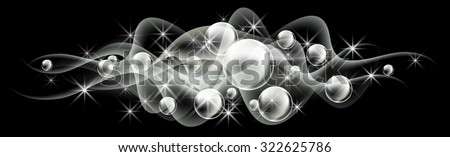 glowing background with bubbles
