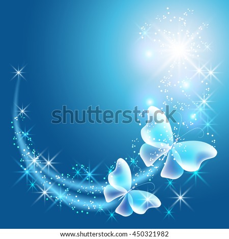 glowing background with two
