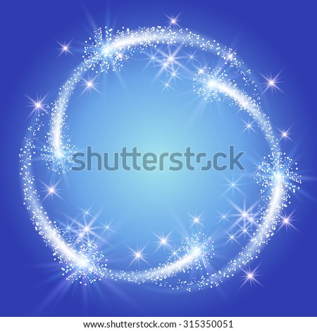 glowing blue background with