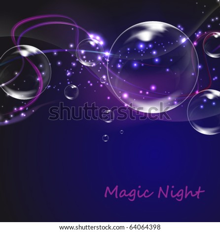 glowing bubble background