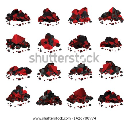 Glowing charcoal, coal Pile of charcoal , coal heaps of Glowing coals  Сток-фото ©
