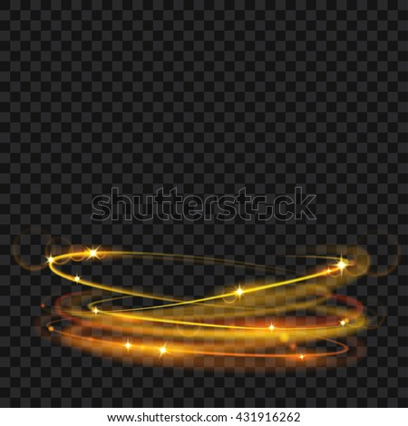 glowing fire rings with glitter