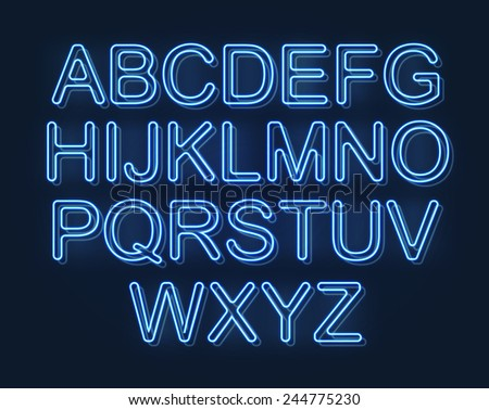 glowing font  futuristic design