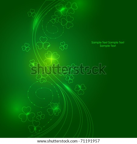 Glowing Four leaf clover