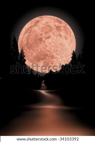 glowing fullmoon background the moon is completely round to use for other scenes