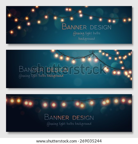 glowing light bulbs design