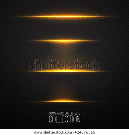 Glowing light effects collection isolated on transparent. Optical flare objects .  Vector collection of abstract flashes .  - Shutterstock ID 424876516