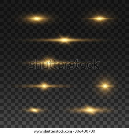 glowing lights and stars