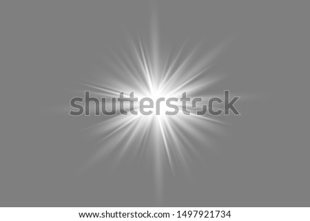 glowing lights effects isolated on gray background. Sun flash with rays and spotlight. Glow light effect. Star burst with sparkles.