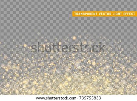 glowing lights golden glitter