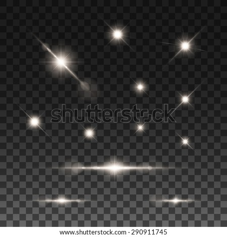 glowing lights  stars and