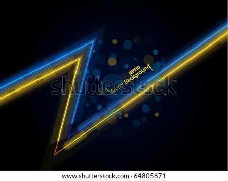 Glowing lines. All elements are on separate layers named accordingly. Vector illustration.
