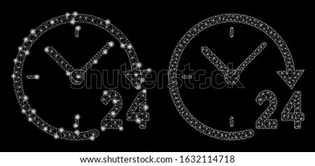 glowing mesh 24 hours clock