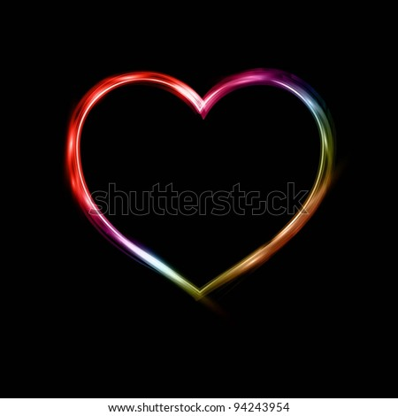 Neon zebra heart backgrounds