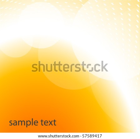 glowing orange vector background