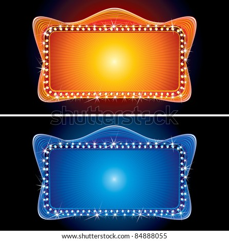 Glowing Retro Theater Marquee
