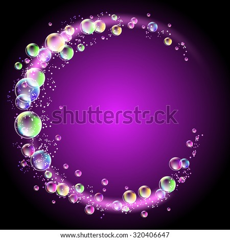 glowing round frame with