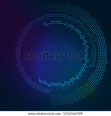 Glowing round with glitter. Abstract colored shape for your business idea. Vector editable logo background illustration. Foto stock ©