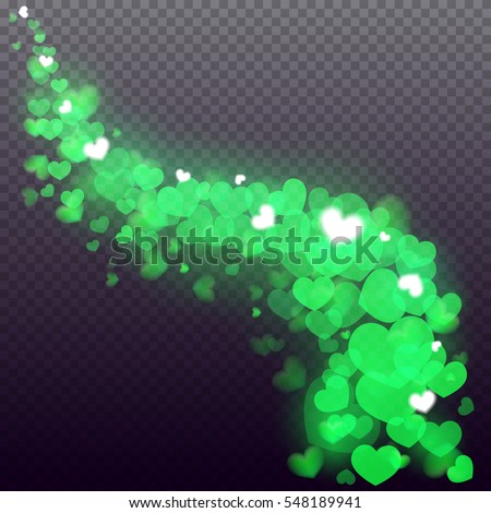 glowing stream wave of
