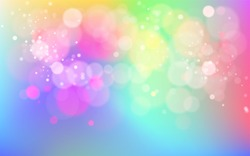 Glowing techno abstract colorful background. Stock vector Illustration  banner site blur variegated pink, red, blue, green, purple, violet, yellow glowing, bokhe, confetti glamorous image backdrop.