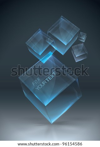Glowing transparent boxes