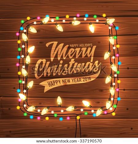 glowing white christmas lights