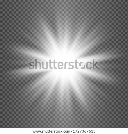 Glowing White Light effect. Vector illustration Foto stock ©