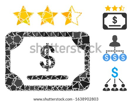 Glowing white mesh financial share rating with glow effect. Abstract illuminated model of financial share rating. Shiny wire frame polygonal mesh financial share rating icon on a black background.