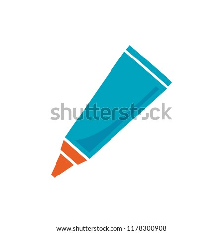 glue tube icon, vector adhesive bottle symbol illustration