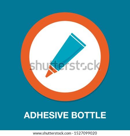 glue tube icon, vector adhesive bottle symbol illustration