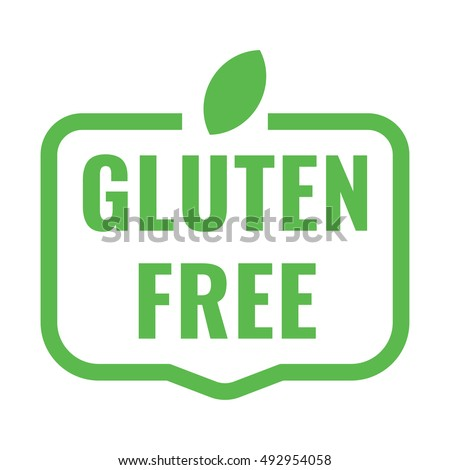 Gluten free badge, logo, icon. Flat vector illustration on white background. Can be used business company.