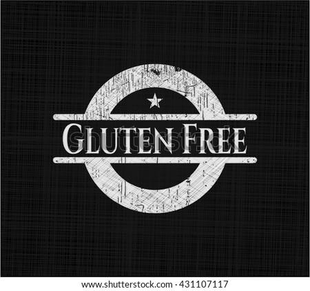 Gluten Free chalk emblem
