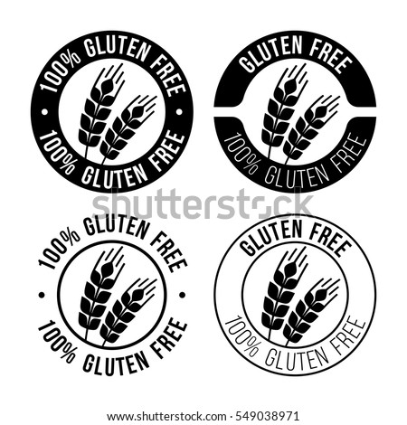 Gluten free emblem. Sign with wheat vector illustration