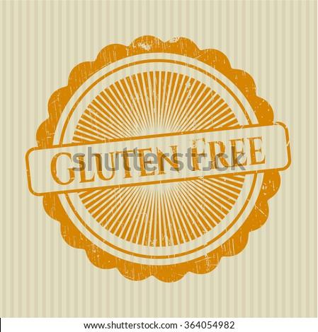 Gluten Free grunge seal