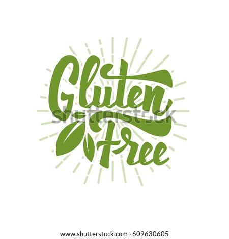gluten free hand drawn
