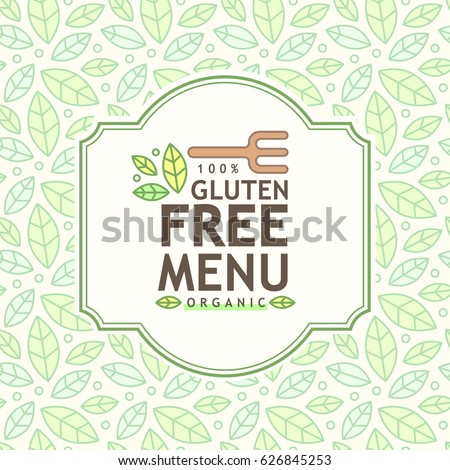Gluten free icon, vector gluten free sign isolated over white background. Healthy food vector illustration