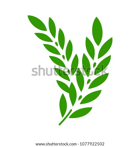 Gluten free icon. vector gluten symbol - healthy organic grain illustration