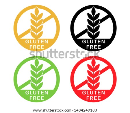 Gluten free icon vector illustration