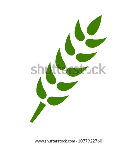 Gluten free symbol icon - healthy and organic symbol, vector wheat illustration