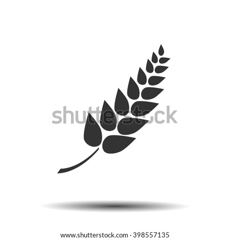 Gluten free vector label icon
