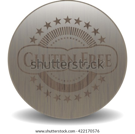 Gluten Free wood emblem. Retro