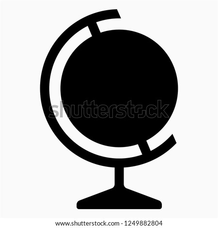 Glyph globe vector icon