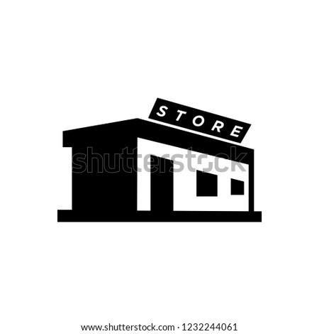 Glyph store icon vector black
