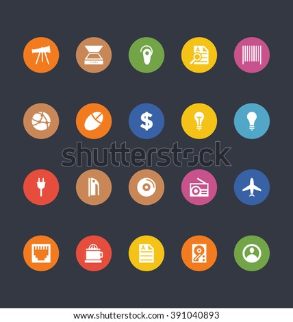 glyphs colored vector icons 8
