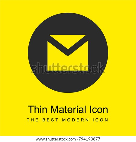 Gmail bright yellow material minimal icon or logo design